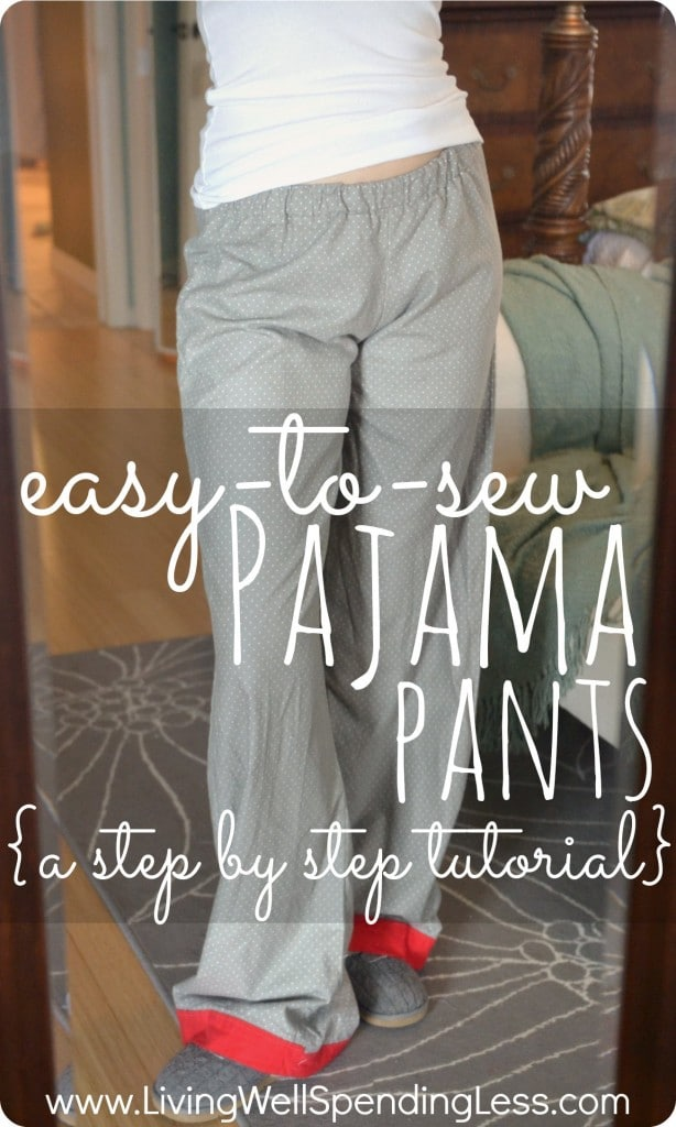 Great DIY Project For Beginners Easy To Sew Pajama Pants DIY Enchanting Pajama Pants Pattern