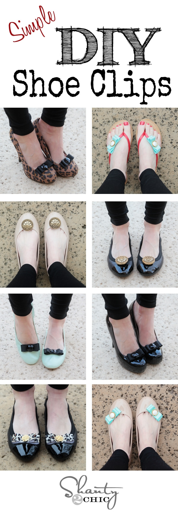 Create the Perfect Shoes for Any Occasion with These Great DIY Shoe Clips