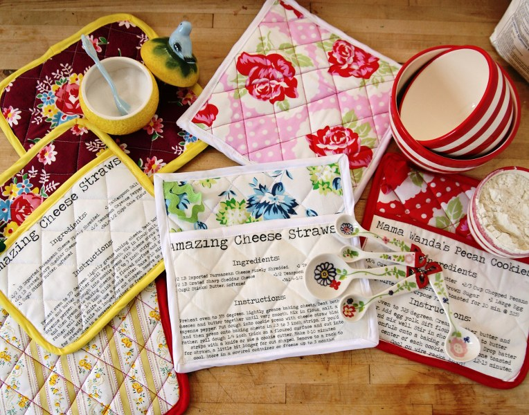 Great Gift-Giving DIY – Homemade Recipe Pot Holders