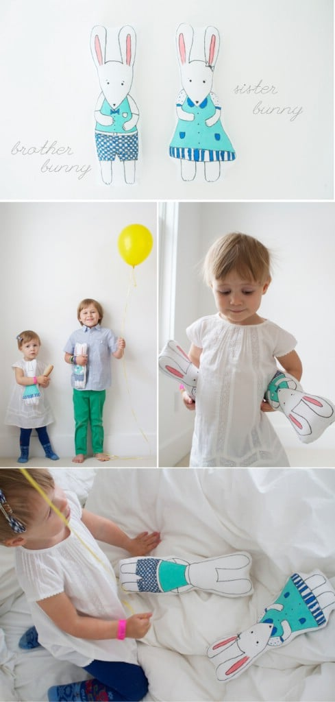 Bunny brother and sister dolls - Top 28 Most Adorable DIY Baby Projects Of All Time