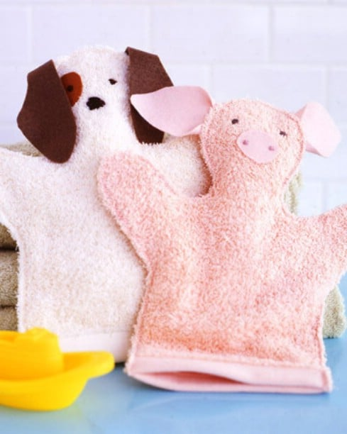 DIY Washcloth Puppets - Top 28 Most Adorable DIY Baby Projects Of All Time