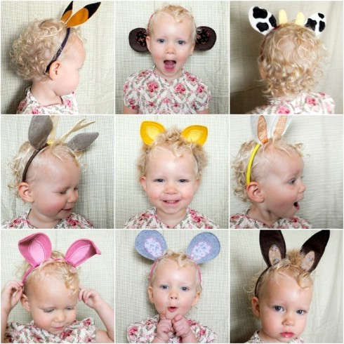 DIY Animal Ear Headbands - Top 28 Most Adorable DIY Baby Projects Of All Time