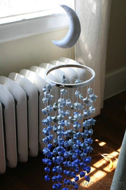 Lucky Star Ombre Mobile - Top 28 Most Adorable DIY Baby Projects Of All Time