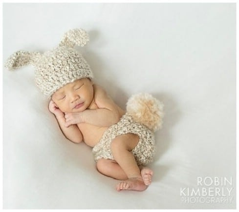 Bunny Rabbit- Cuddle Critter Cape Set - Top 28 Most Adorable DIY Baby Projects Of All Time