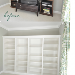Beautiful DIY Built-In Bookcases – From IKEA Shelves