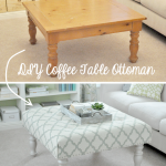 Living Room DIY – Turn a Coffee Table into an Upholstered Ottoman