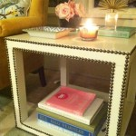 Great DIY Nailhead Side Table – Cheap and Easy to Make
