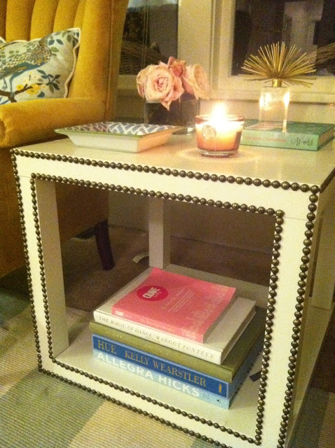 Great DIY Nailhead Side Table U2013 Cheap And Easy To Make