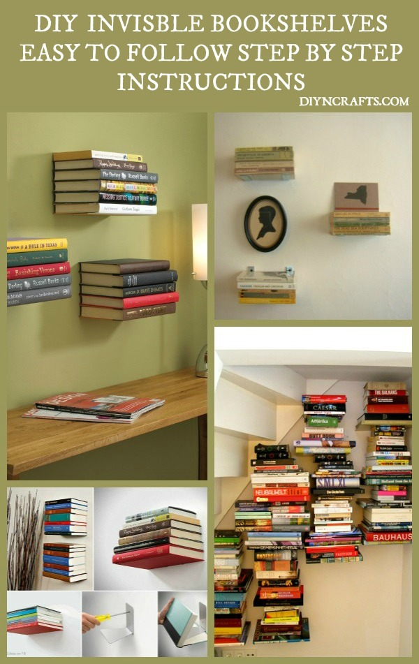 beautiful and unique home dcor diy install invisible bookshelves - Invisible Bookshelves