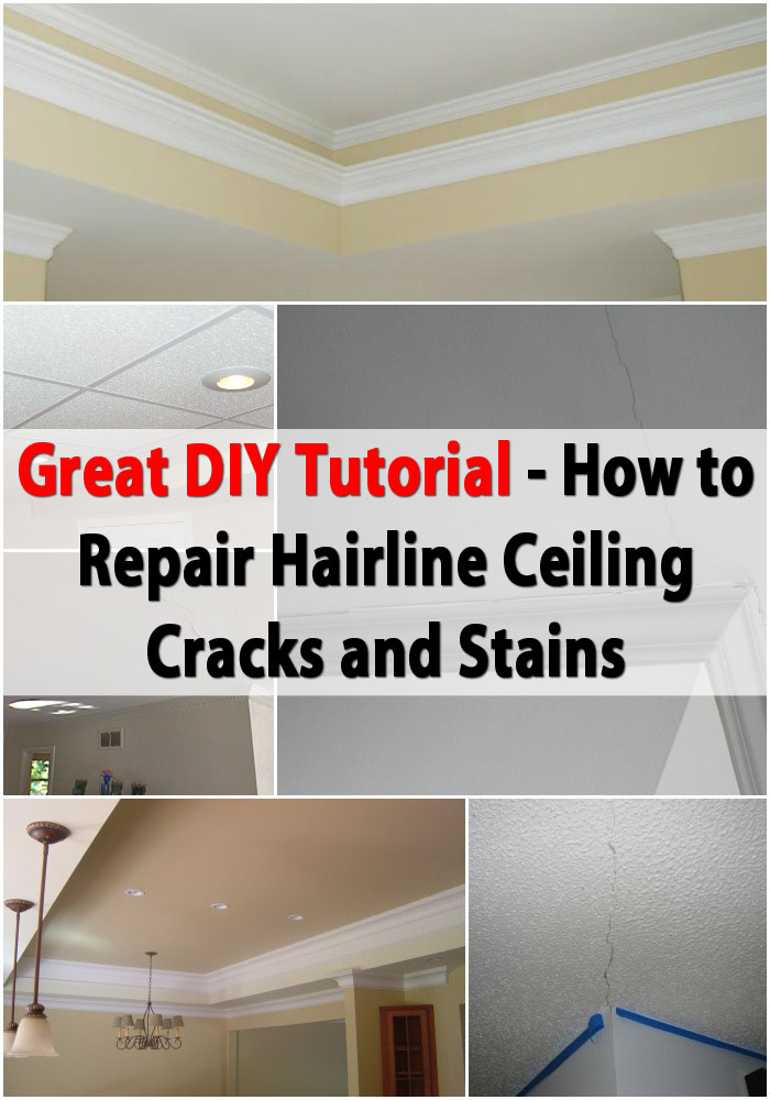 Great Diy Tutorial For Repairing Hairline Ceiling Cracks