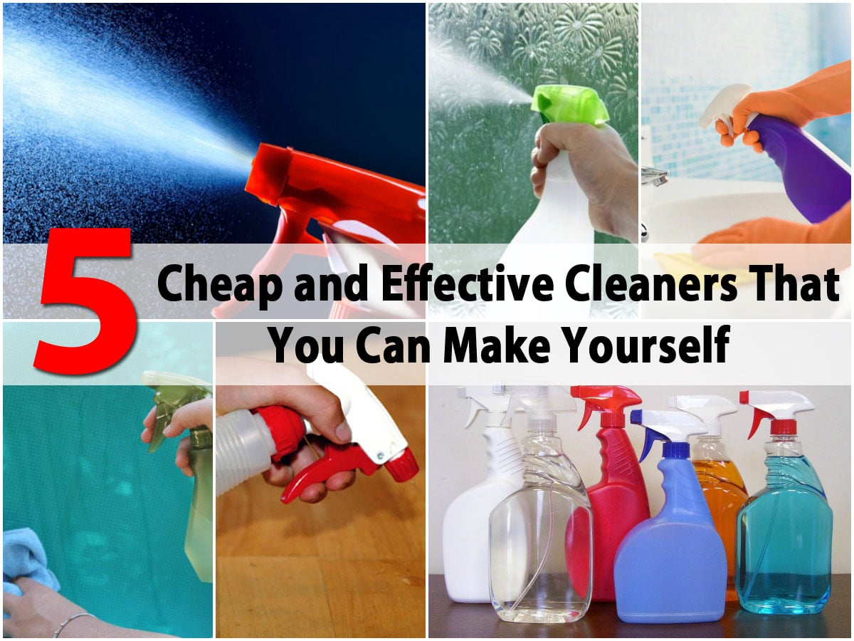 5 cheap and effective cleaners that you can make yourself for Cheapest house to build yourself