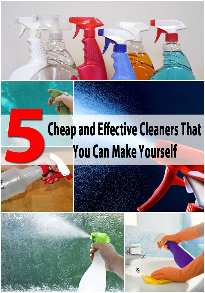 5 cheap and effective cleaners that you can make yourself for Cheapest way to build a house yourself