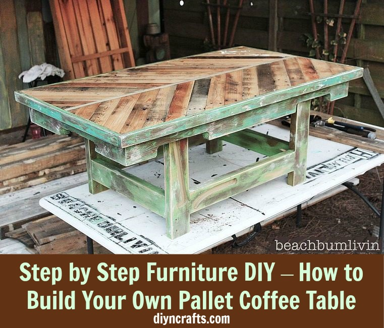 Step by step furniture diy how to build your own pallet for Make your own end table