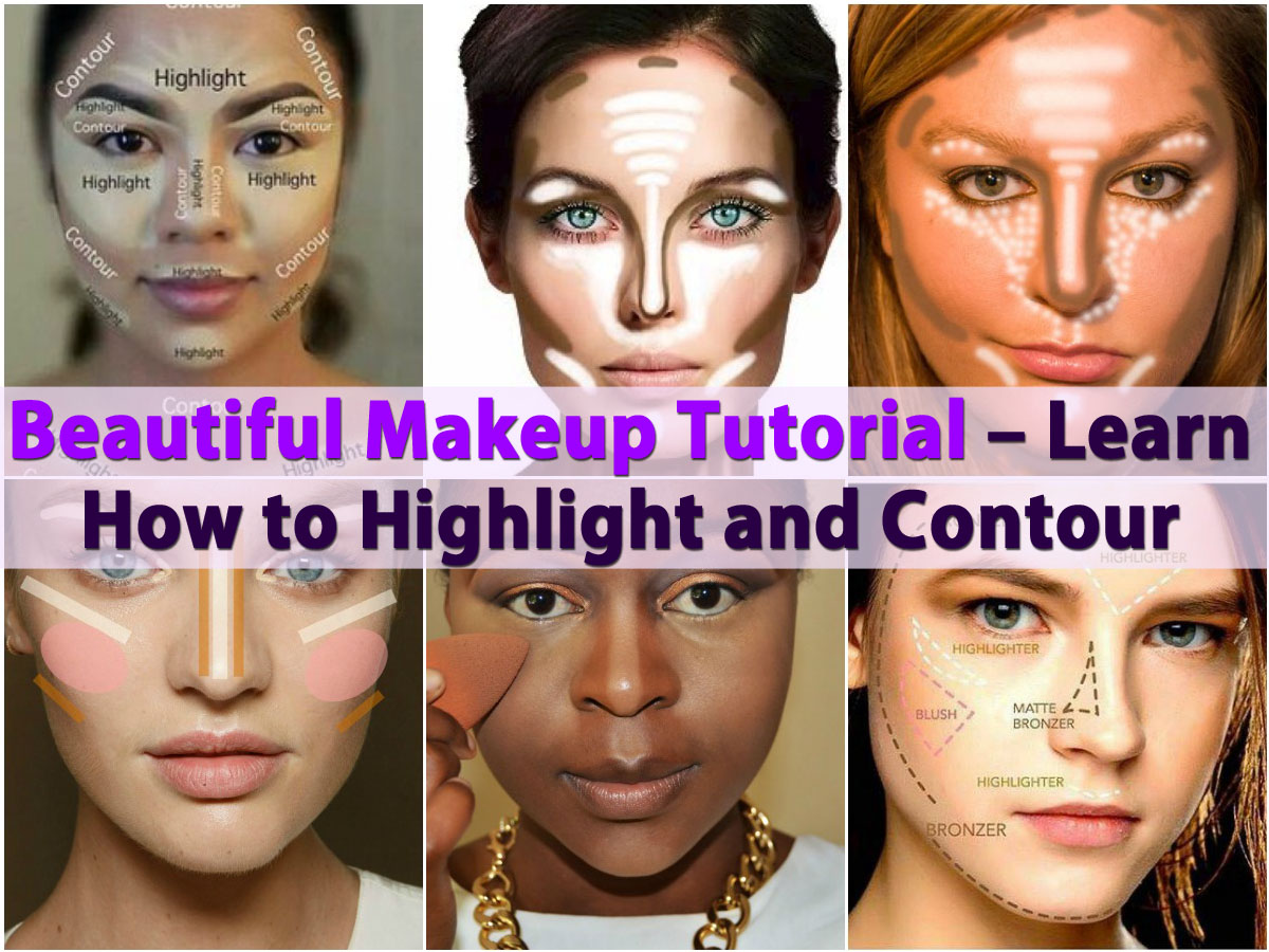 Beautiful makeup tutorial learn how to highlight and contour diy beautiful makeup tutorial learn how to highlight and contour diy crafts baditri Images