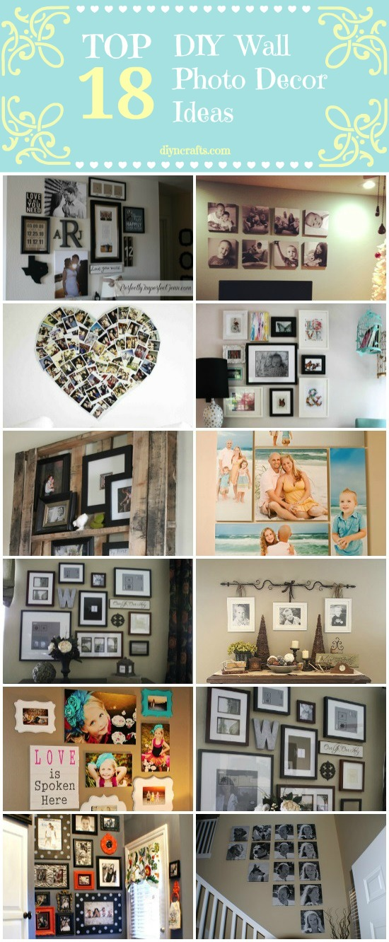 How To Make Wall Design At Home : Top diy wall photo decor ideas crafts