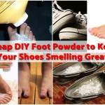 Cheap DIY Foot Powder to Keep Your Shoes Smelling Great