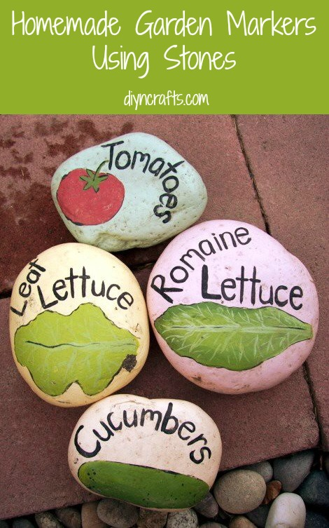 Summer Garden DIY Project – Homemade Garden Markers Using Stones