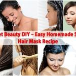 Secret Beauty DIY – Easy Homemade Shiny Hair Mask Recipe