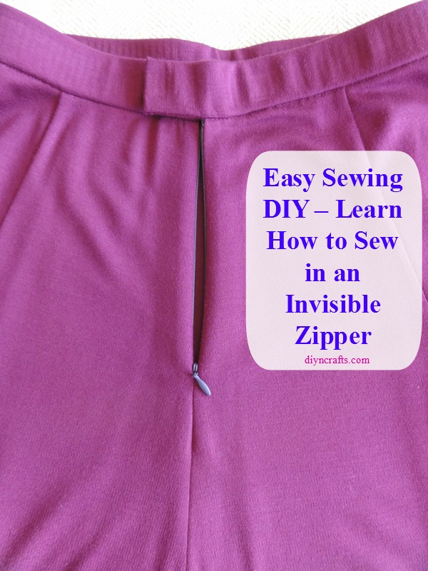 Easy Sewing Diy Learn How To Sew In An Invisible