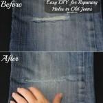 Easy DIY for Repairing Holes in Old Jeans