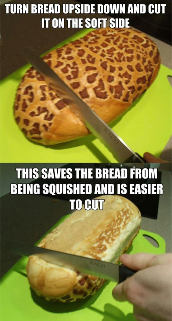 Bread slicing tip