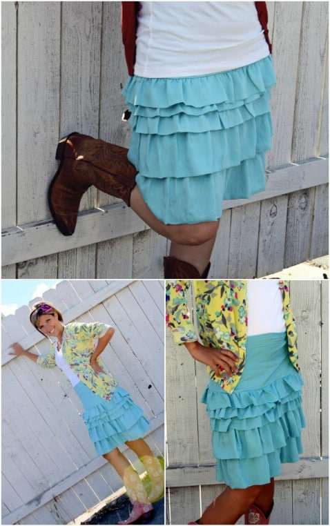 DIY Ruffle Equation Skirt Step by Step Instructions - Top 15 Summer Ready DIY Skirts With Free Patterns and Instructions
