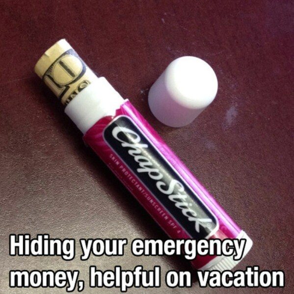 Emergency money storage