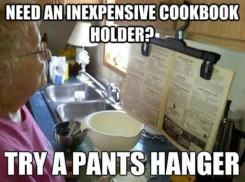 Cookbook holder - Top 68 Lifehacks and Clever Ideas that Will Make Your Life Easier