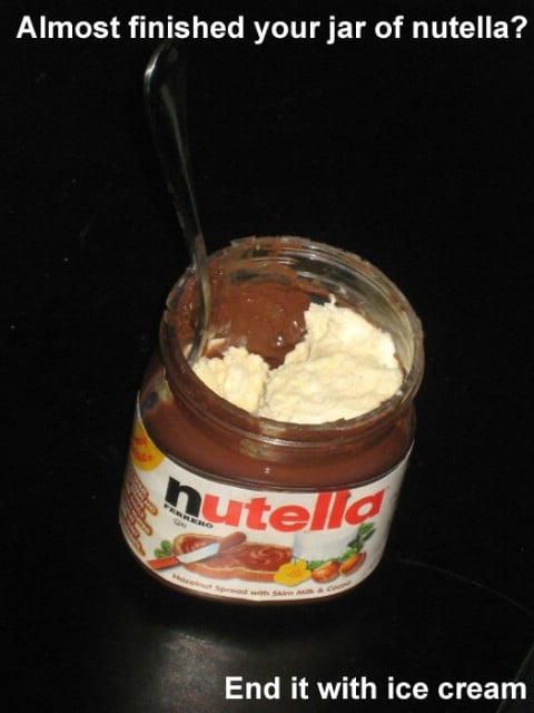 Nutella with Ice Cream - Top 68 Lifehacks and Clever Ideas that Will Make Your Life Easier