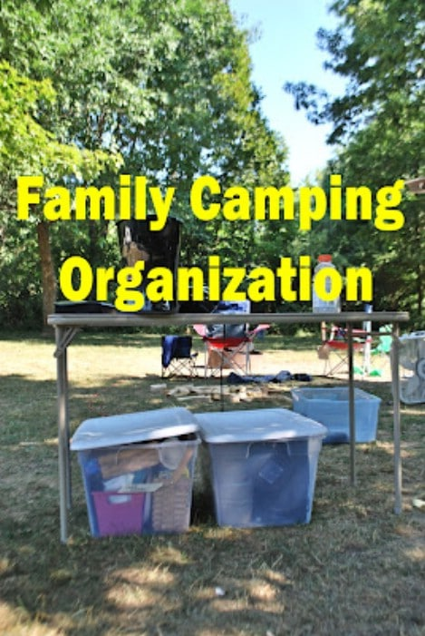 Family Camping Packing Lists Organzaition