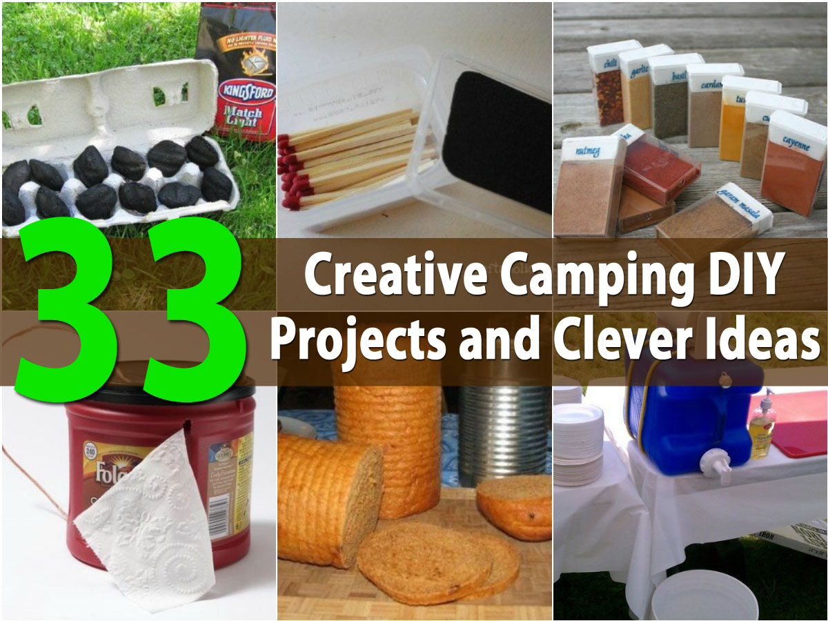 Top 33 most creative camping diy projects and clever ideas for Interesting diy projects