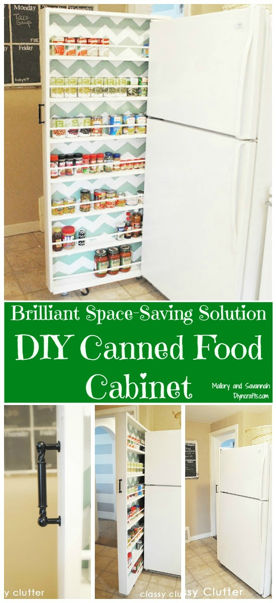 Brilliant Space Saver Project – DIY Canned Food Cabinet