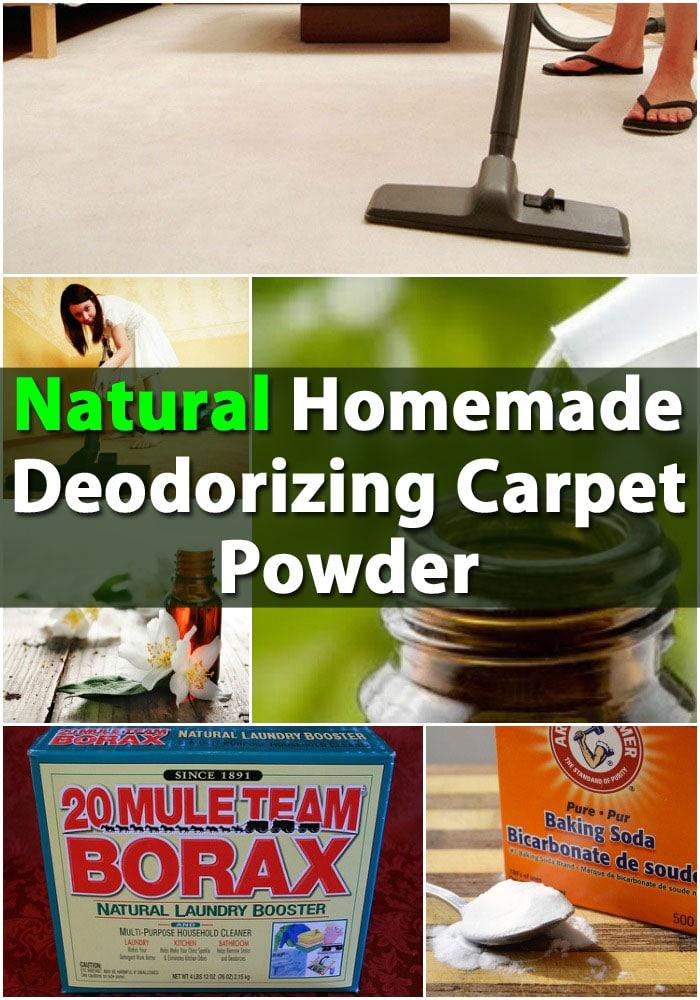 Natural Homemade Deodorizing Carpet Powder