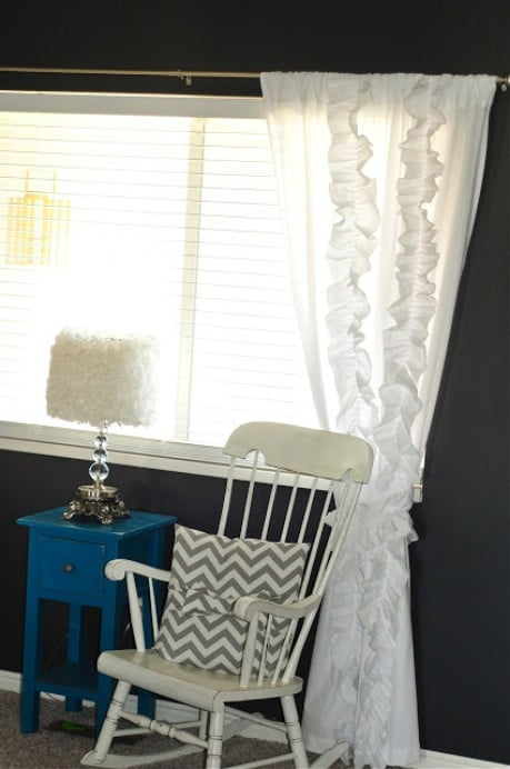 """Anthropologie """"knock off"""" curtains from bed sheets!  - 32 Brilliant DIY Anthropologie Knockoffs"""