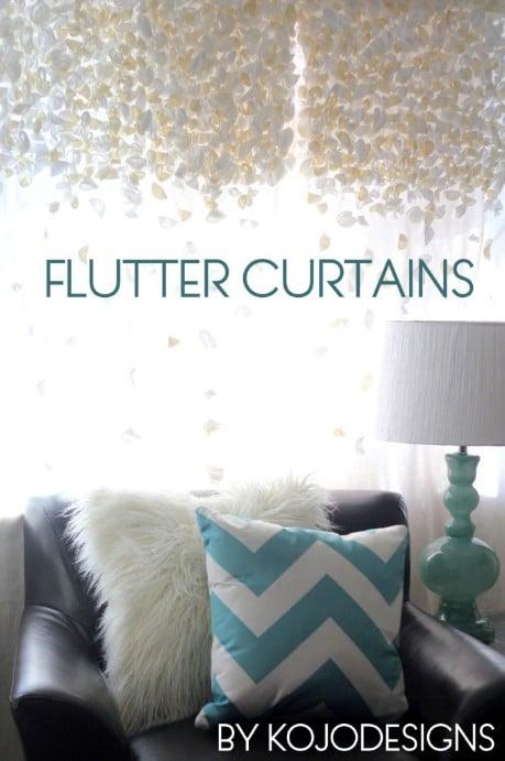 Anthropologie knock-off flutter curtains - 32 Brilliant DIY Anthropologie Knockoffs