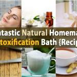 Fantastic Natural Homemade DIY Detoxification Bath {Recipe}