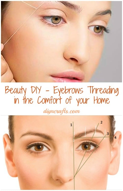 Beauty Diy Eyebrows Threading In The Comfort Of Your Home Video