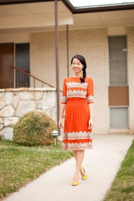 DIY 300$ Anthropologie Tangerine Flicker Dress DIY  - 32 Brilliant DIY Anthropologie Knockoffs