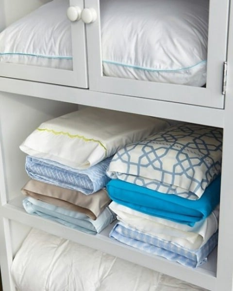 Store Matching Sheets in Pillowcases. - Top 58 Most Creative Home-Organizing Ideas and DIY Projects