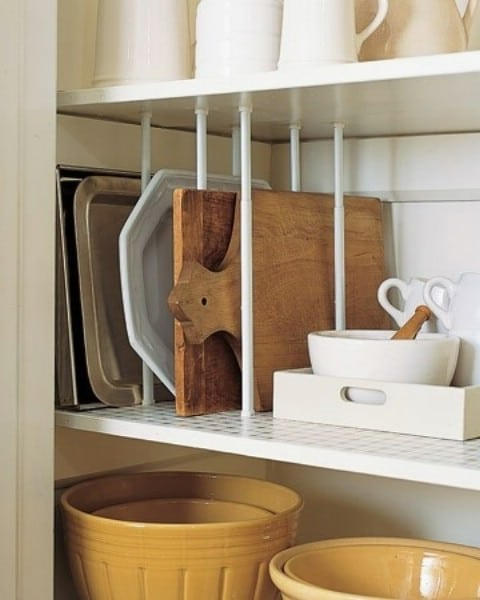 sliding pot rack cabinet