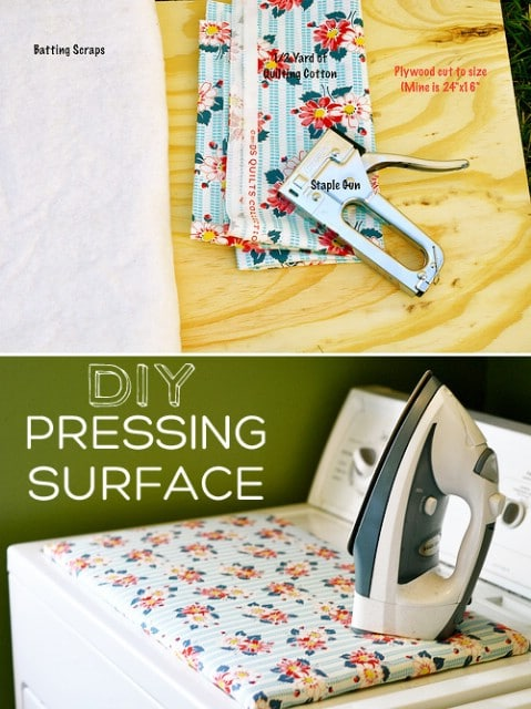 DIY Pressing Surface Thatll Replace Your Ironing Board