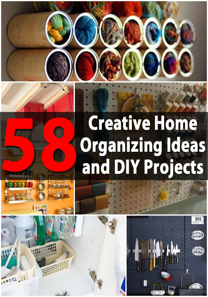 Top 58 most creative home organizing ideas and diy for Diy crafts with things around the house