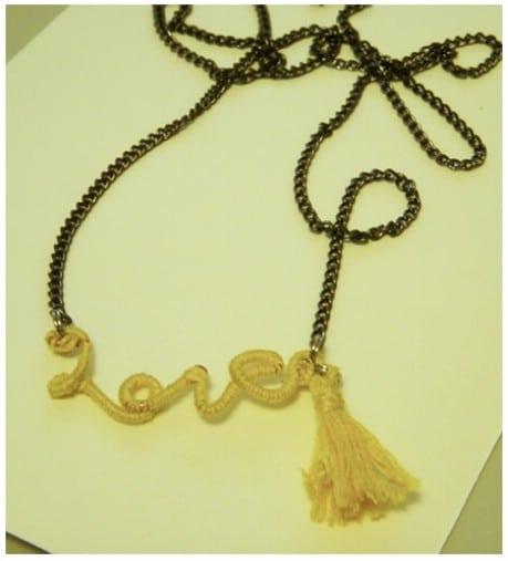 Anthro Knock-Off Love Necklace - 32 Brilliant DIY Anthropologie Knockoffs