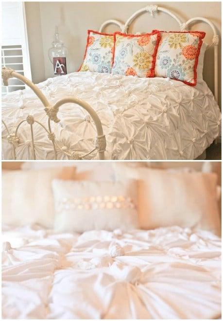 DIY Anthropologie inspired knotted bedding - 32 Brilliant DIY Anthropologie Knockoffs