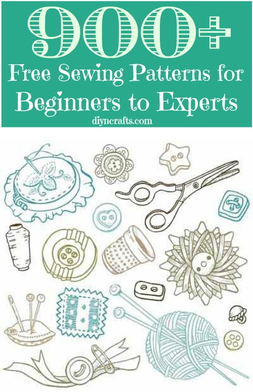 900+ Free Sewing Patterns for Beginners to Experts - DIY & Crafts