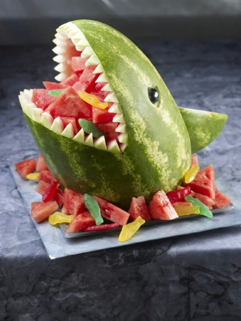 DIY Watermelon Shark - 35 Summery DIY Projects And Activities For The Best Summer Ever
