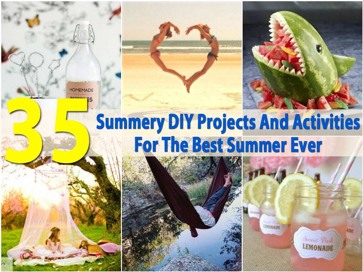 35 Summery Diy Projects And Activities For The Best Summer