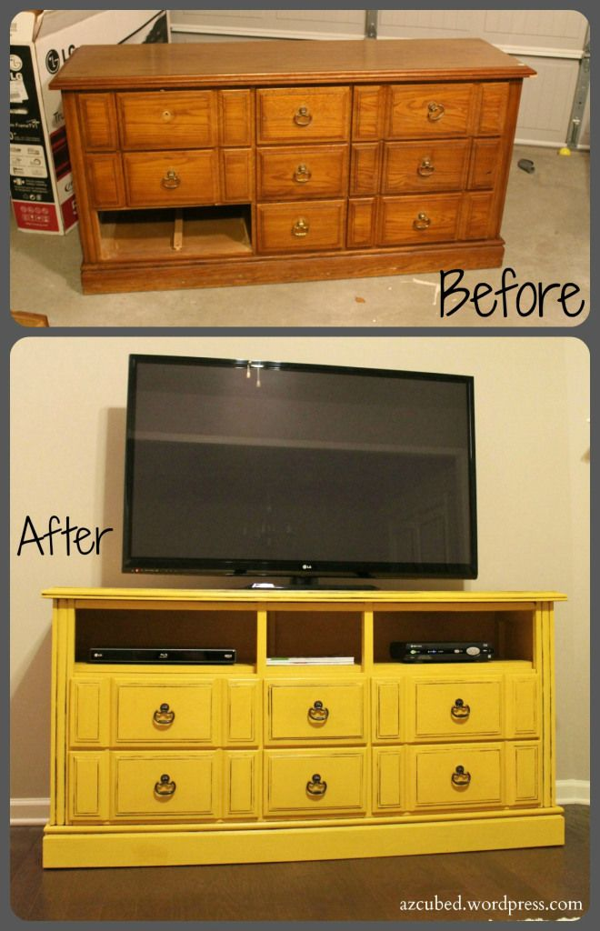 Turn An Old Dresser Into A Fabulous TV Stand DIY amp Crafts