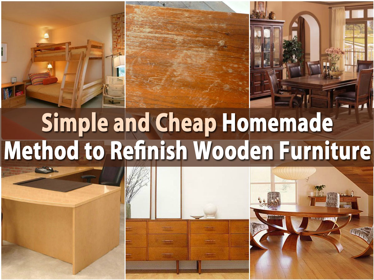 Simple and cheap homemade method to refinish wooden for Affordable furniture repair