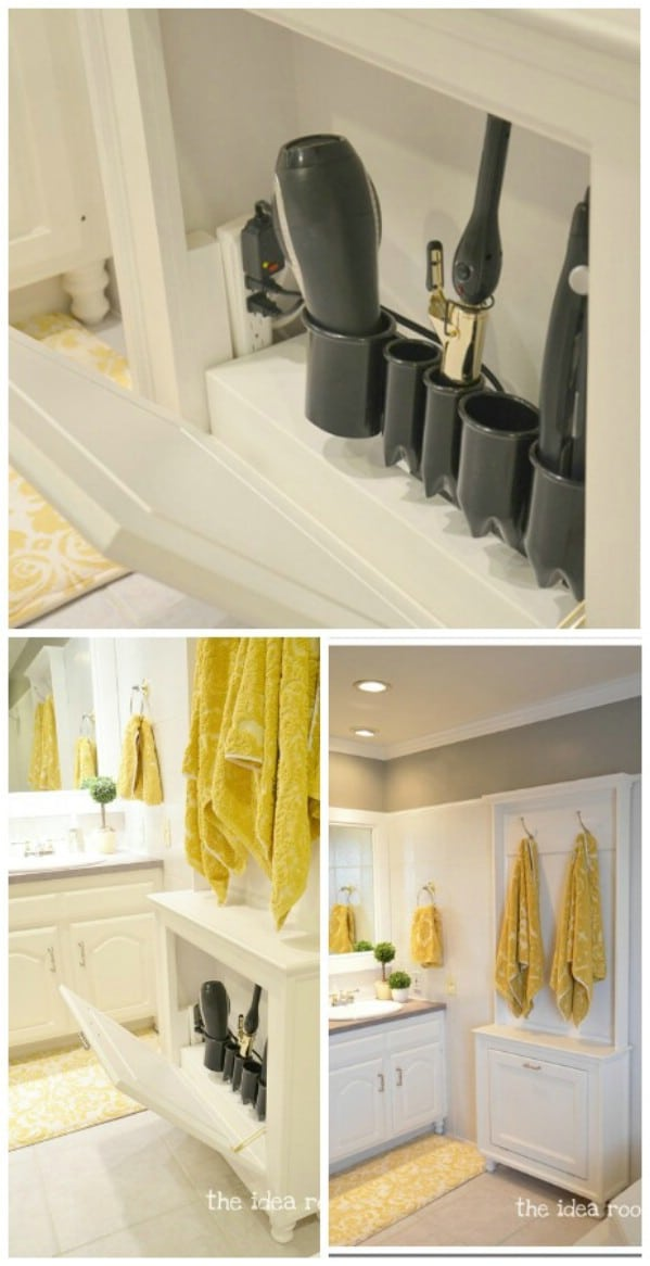 diy hair styling tool organizer 30 brilliant bathroom organization and storage diy 4208